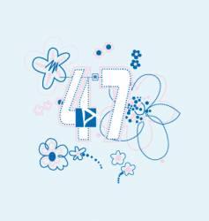 design feminine vector image
