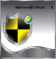 shield security concept background vector image