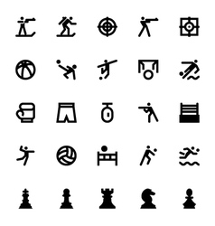 Sports and games icons 7 vector