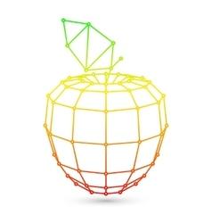 Geometric Mesh Apple vector image