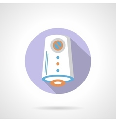 Air purification flat color round icon vector