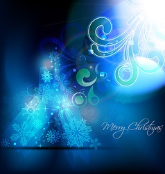 artistic christmas background vector image vector image