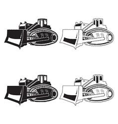 Bulldozer isolated on white background vector