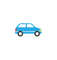 Car solid icon navigation and transport sign vector