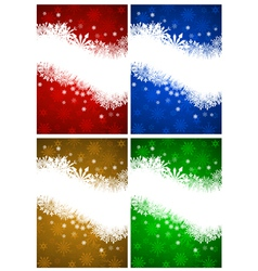 Christnas card set vector image