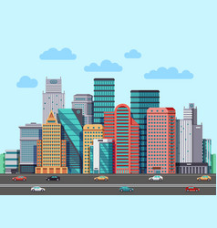 city buildings panorama urban architecture vector image vector image