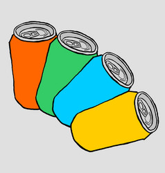 color cans vector image vector image
