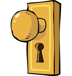 doorhandle vector image
