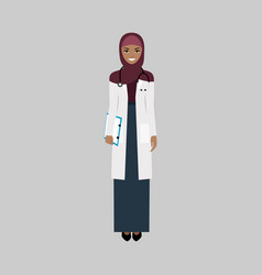 female character of infectiologist vector image vector image