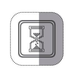Figure emblem hourglass cursor vector