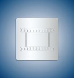 film reel metal vector image