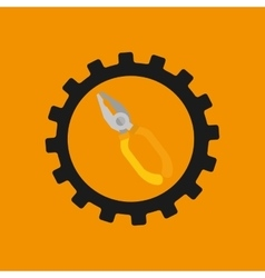 Gear construction tool repair icon vector