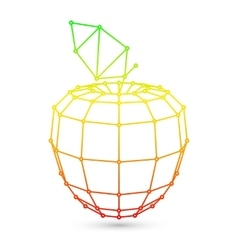 Geometric Mesh Apple vector image