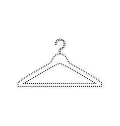 Hanger sign black dotted vector