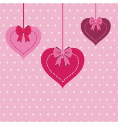 heart decorations vector image vector image