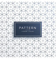 Hexagonal geometric line pattern background vector