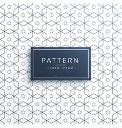 Hexagonal geometric line pattern background vector
