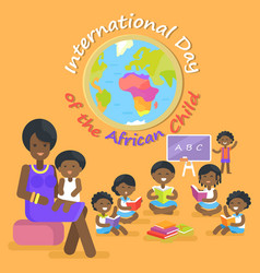 international day of african child vector image vector image