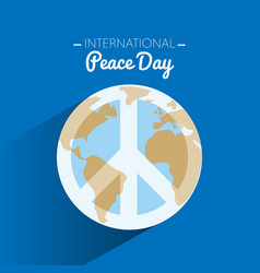 international peace day with symbol of peace on vector image vector image