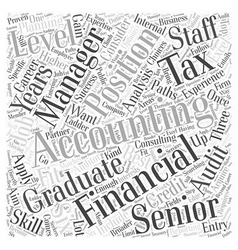 JH accounting jobs Word Cloud Concept vector image