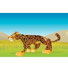 Leopard stalking vector
