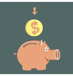 Moneybox for money vector
