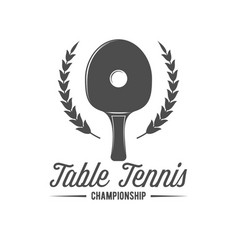 ping pong emblem label badge and designed vector image vector image