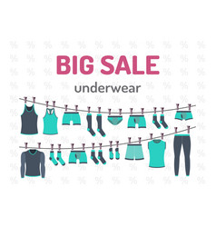 sale set underwear vector image