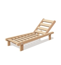 Sun lounger isolated on white background vector image vector image