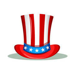 uncle sam hat for the 4th of july usa vector image