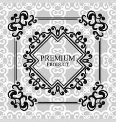 vintage luxury background with retro elements vector image