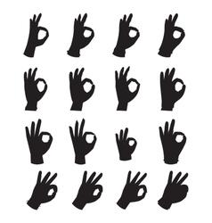 Hands symbol ok vector