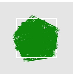 Grunge hand painted brush stroke pentagon vector image