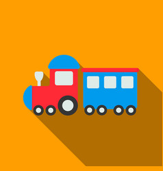 locomotive flate icon for web and vector image
