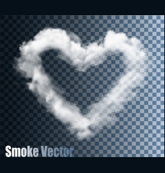 realistic transparent cloud heart vector image