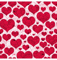 valentine background with red hearts vector image