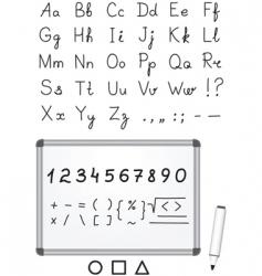 marker font vector image