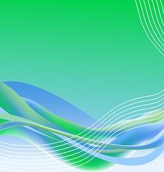 Wave and lines vector