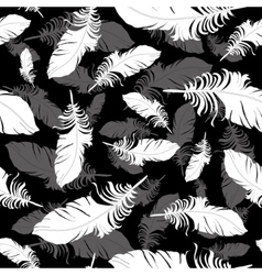 Plumage background seamless pattern vector