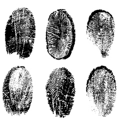 Many different black fingerprints vector