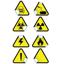 Set chemical warning signs vector