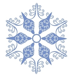Isolated snowflake 01 vector