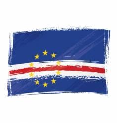 grunge Cape Verde flag vector image