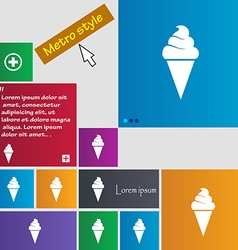 ice cream icon sign buttons Modern interface vector image