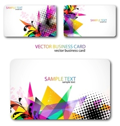 Modern business-card set vector