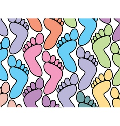 Colorful feet background vector