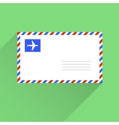 Air mail blank letter envelope flat style vector