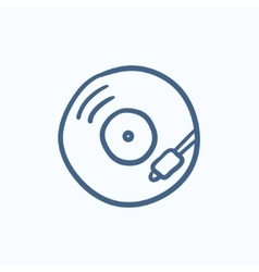 Turntable sketch icon vector