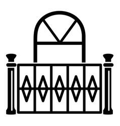 Beautiful balcony icon simple style vector