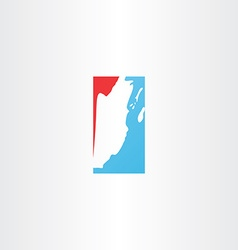 Belize map icon logo vector